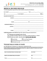 Medical Records Release