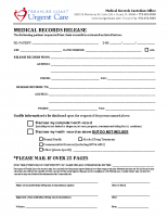 Med Records Release-UC